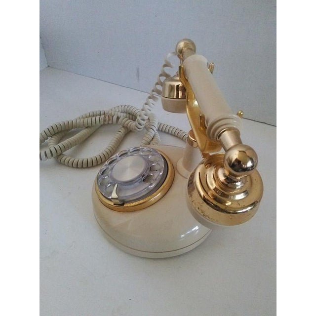 1970s Vintage French Style Telephone For Sale In New York - Image 6 of 7