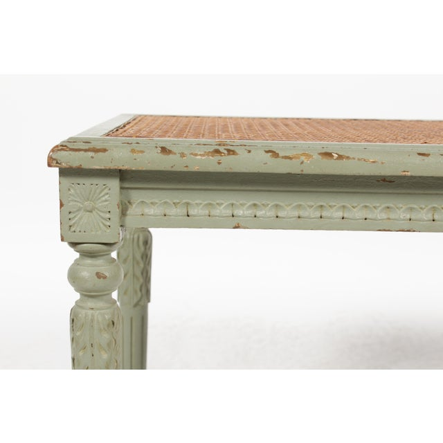 Antique Louis XVI Style Painted Bench - Image 5 of 10