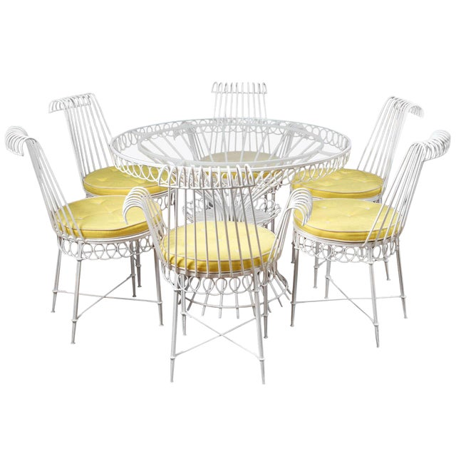 Mathieu Mategot Set of Table and 6 Chairs For Sale
