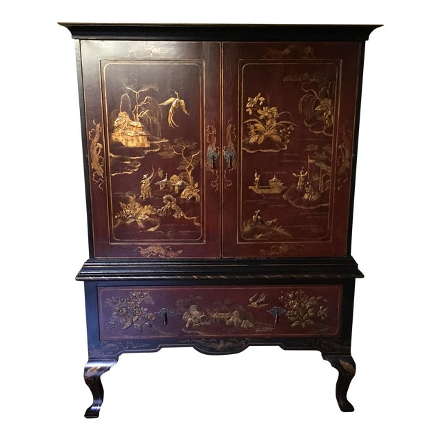 Chinoiserie Cabinet For Sale