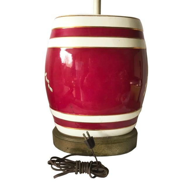 Ceramic Antique English Rum Barrel Lamp For Sale - Image 7 of 8