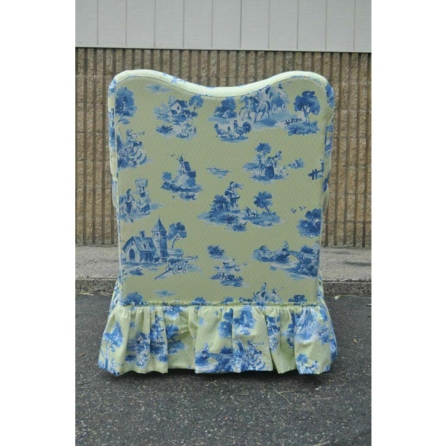 Drexel Heritage Vera Bradley Rolled Arm French Country Club Chair & Ottoman For Sale In Philadelphia - Image 6 of 13