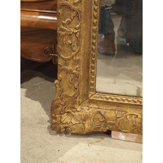 Gold Period Louis XIV Giltwood Mirror, Circa 1700, Provence For Sale - Image 8 of 11