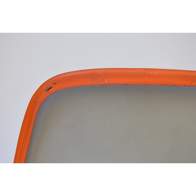 Herman Miller Eames Orange Vinyl Side Shell Chair For Sale - Image 7 of 9