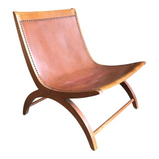 Mid-Century Modern Milo Baughman for Murray Brown Leather Lounge Chair For Sale