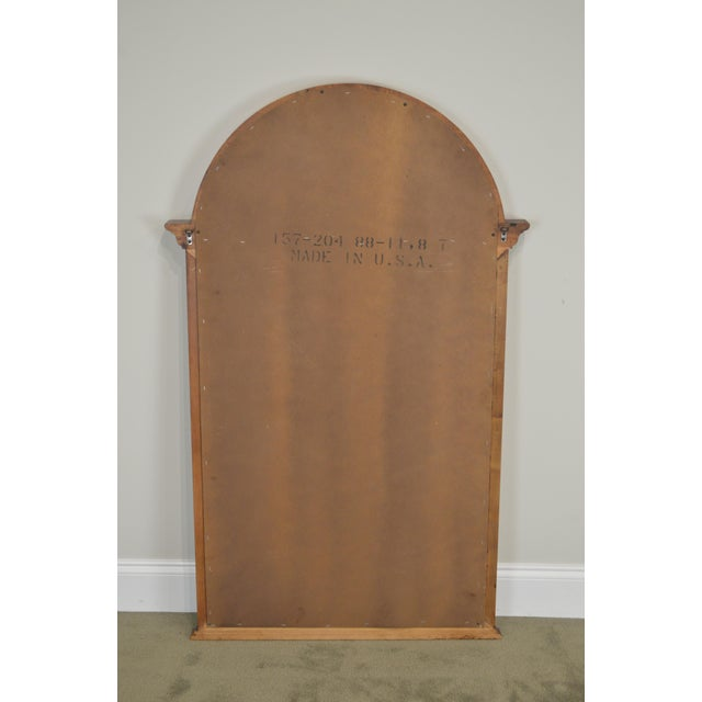 Lexington Cherry Arch Top Beveled Mirror For Sale - Image 9 of 13