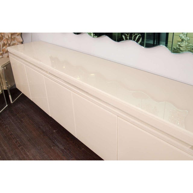 Reverse Painted Glass Sideboard For Sale In New York - Image 6 of 7