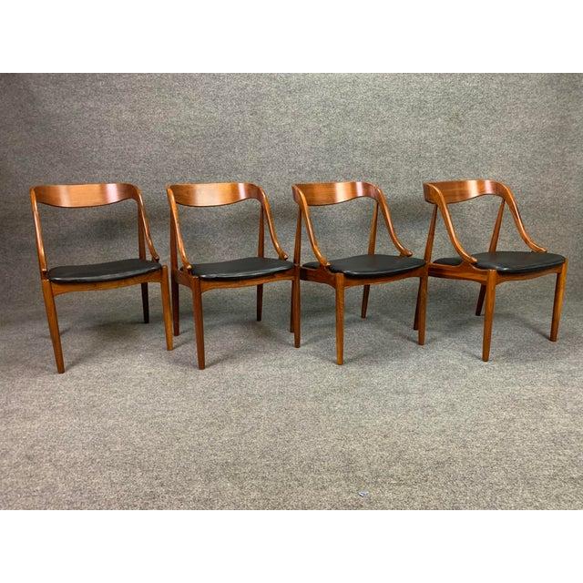 MM Moreddi 1960s Vintage Johannes Andersen Danish Modern Walnut Dining Chairs- Set of 4 For Sale - Image 4 of 10
