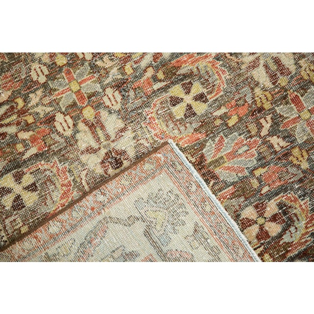"Vintage Distressed Mahal Carpet - 5'5"" X 10' For Sale - Image 11 of 13"