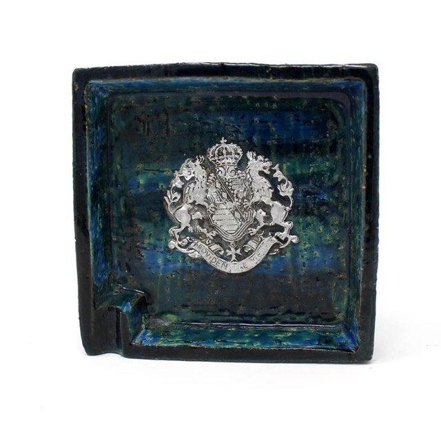 Bitossi 1960s Bitossi Ceramic Blue Ashtray For Sale - Image 4 of 10