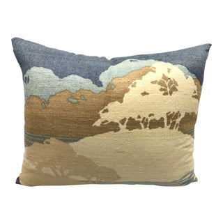 1970 Jack Lenor Larsen Hills of Home Raw Silk & Down Throw Pillow