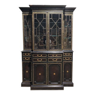 1980s Traditional Maitland Smith Ornate Spanish Style Hutch