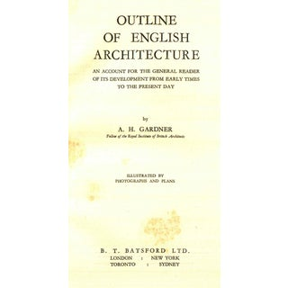 """1949 """"Outline of English Architecture"""" Collectible Book Preview"""
