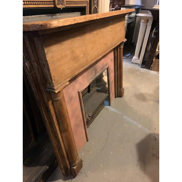 19th Century Country Stripped Pine Mantel For Sale - Image 5 of 7