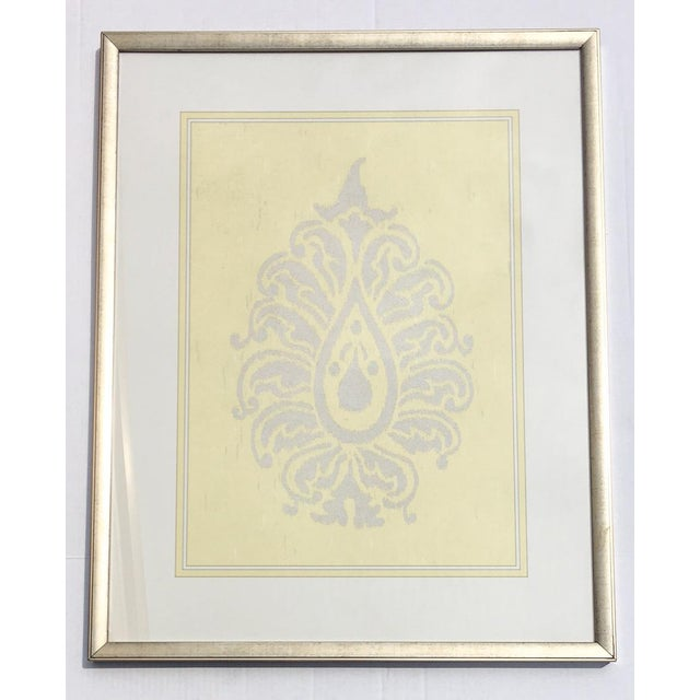 Yellow & Silver Damask Wall Art #2 by Iconic Pineapple - Image 2 of 5
