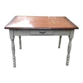 1920's Shabby Chic Tepco Expandable Table With Enamel Top For Sale