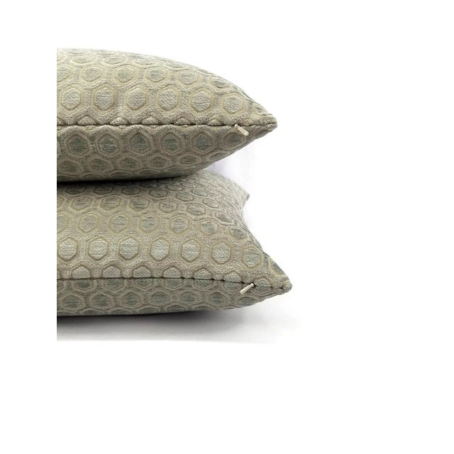 2010s Jim Thompson Intara Seafoam Light Sage Chenille Pillow Cover For Sale - Image 5 of 7