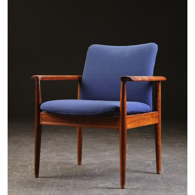 1960s Finn Juhl Rosewood Armchair 209 Diplomat For Sale - Image 5 of 5