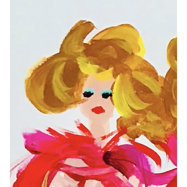 Illustration Fashion Pop Art Painting For Sale - Image 3 of 5
