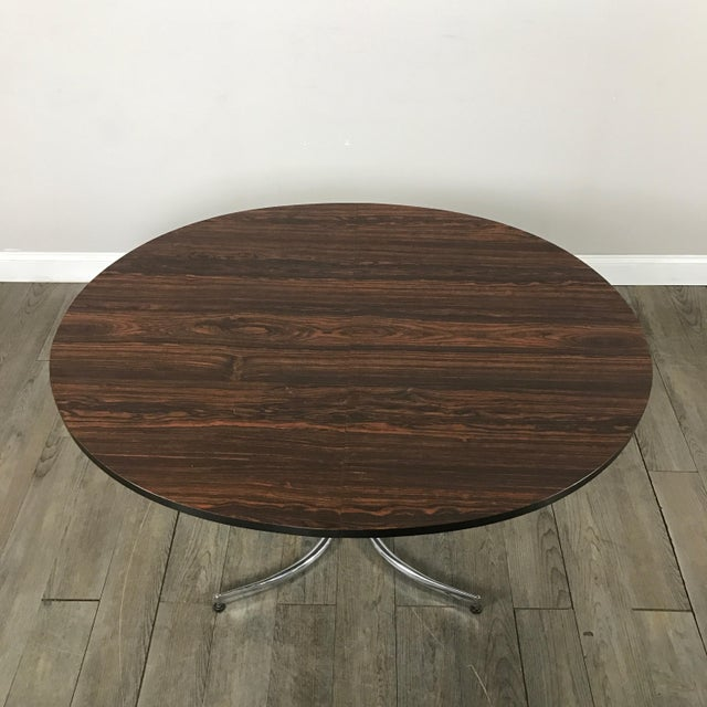 Milo Baughman Vintage Laminate Rosewood Dining Table - Image 8 of 10