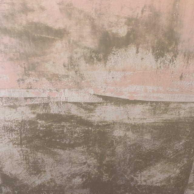 Abstract Original Abstract Modern Pink & Beige Painting For Sale - Image 3 of 4
