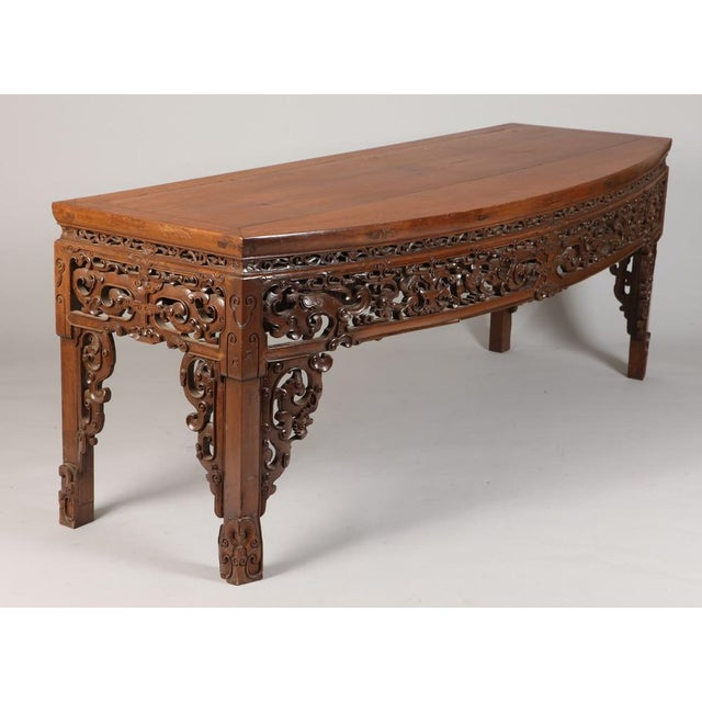 Mid 20th Century Antique Chinese Carved Writing Desk For Sale - Image 5 of 9