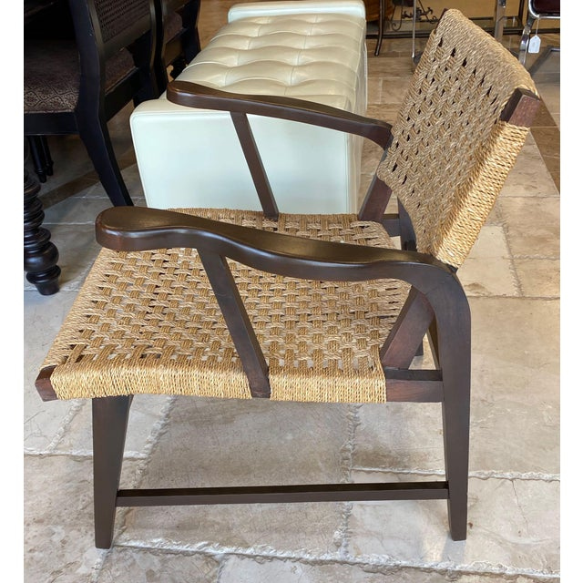 Mid-Century Modern Danish Mid Century Modern Rope Armchairs - a Pair For Sale - Image 3 of 10