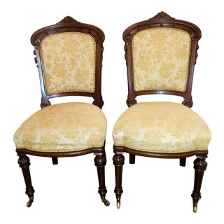 19th C. William IV British Mahogany Side Chairs - a Pair For Sale