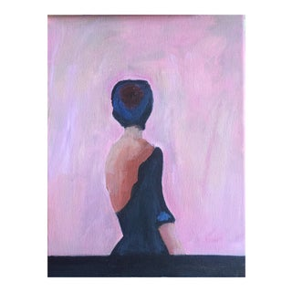 Pink Lady Oil on Canvas Painting