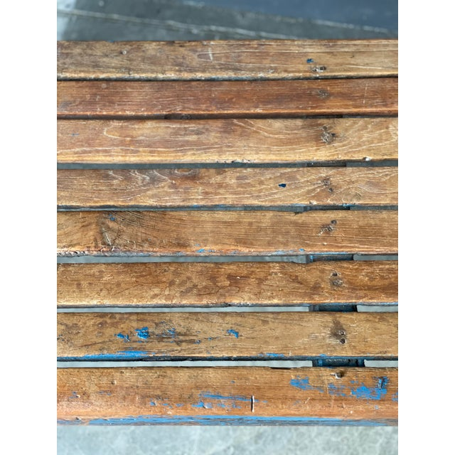 Primitive Wood Bench For Sale - Image 9 of 10