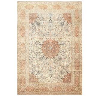 Large Antique Persian Ardabil Design Tabriz Rug - 14′9″ × 21′8″ For Sale