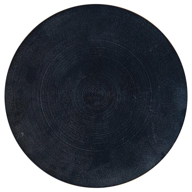 Charcoal Modernist Japanese Tetsubin Low Iron Bowl, 1960s For Sale - Image 8 of 8