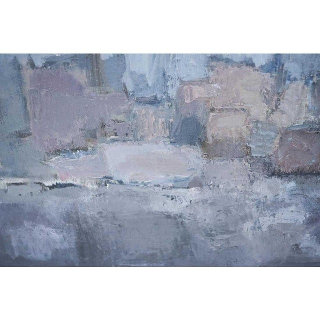 Paint 1980s Vintage Moody Painting Attributed to Spanish Artist Gloria Saez For Sale - Image 7 of 10