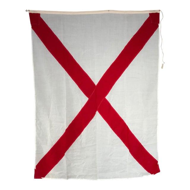"Vintage ""V"" Nautical Flag - Image 1 of 5"