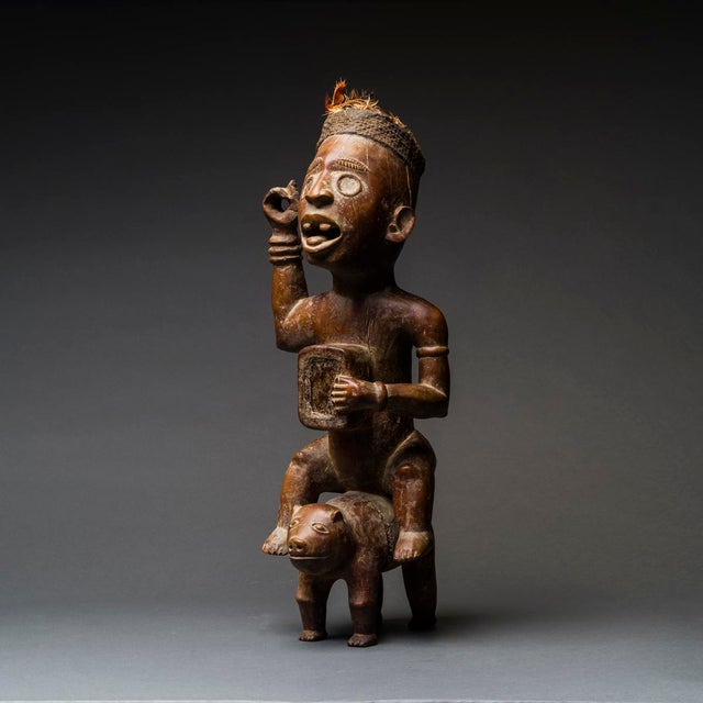 Kongo Wooden Nkisi Sculpture of a Rider For Sale - Image 4 of 4
