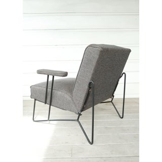 Vintage Mid Century Modern Dan Johnson Iron Chair Pacific Iron Products Chair Preview