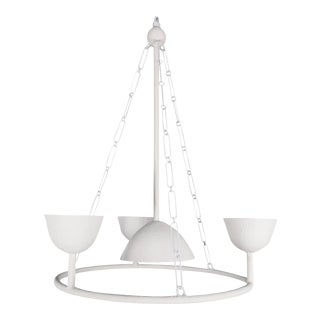 Plaster Circles with 4 Cups Chandelier by Apsara Interior For Sale