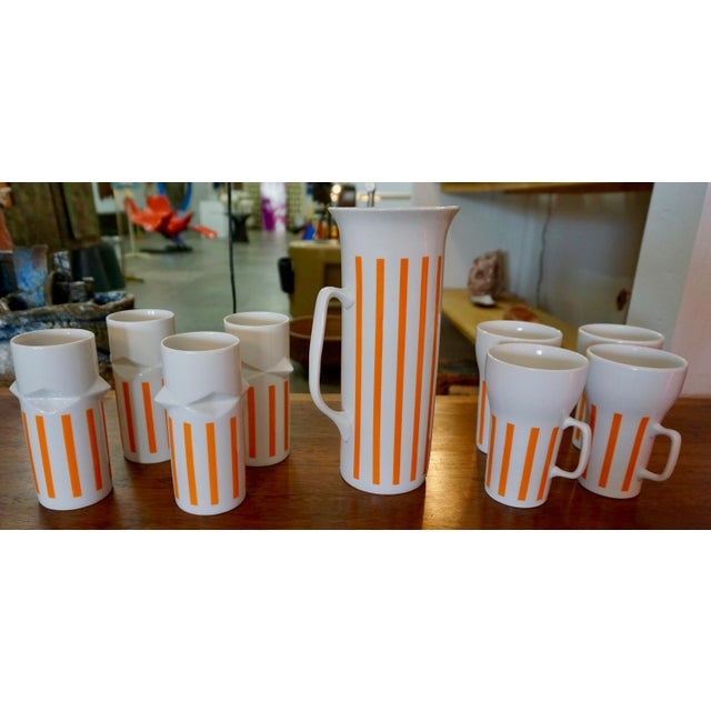 LaGardo Tackett Drinkware Set- 9 Pieces For Sale In Palm Springs - Image 6 of 7