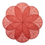 Image of Sinamay Flower Placemats, Coral, Set of 4 For Sale