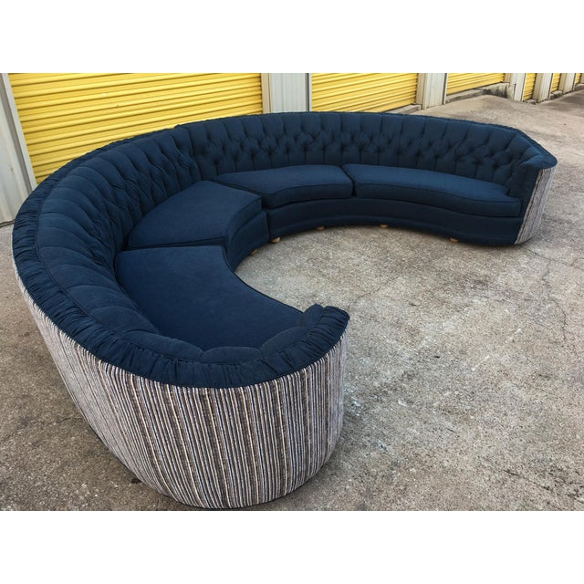 Mid-Century Semi-Circular Sectional - Image 5 of 11