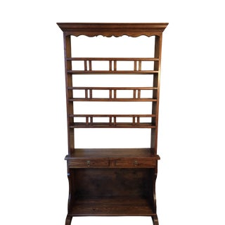 19th Century French Pine Display Cabinet For Sale