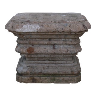 1800s Vintage Concrete Single Pedestal For Sale