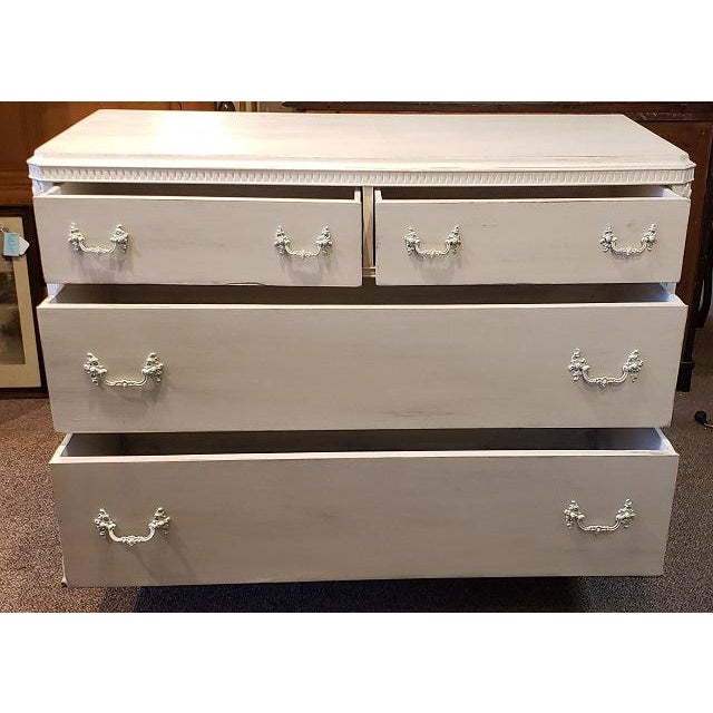 French Walnut Painted Chest of Drawers 19th Century For Sale - Image 4 of 6