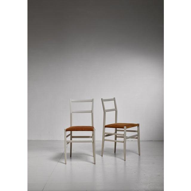 Mid-Century Modern Gio Ponti Pair Rare Grey Leggera Chairs, Italy, 1950s For Sale - Image 3 of 5