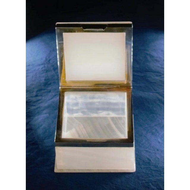 White Lapis Inlay Onyx Box For Sale - Image 8 of 13