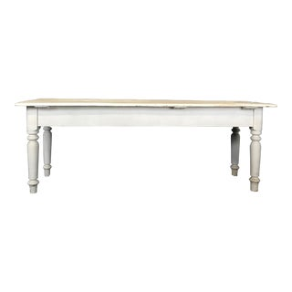 Antique French Country Painted Farm Table For Sale