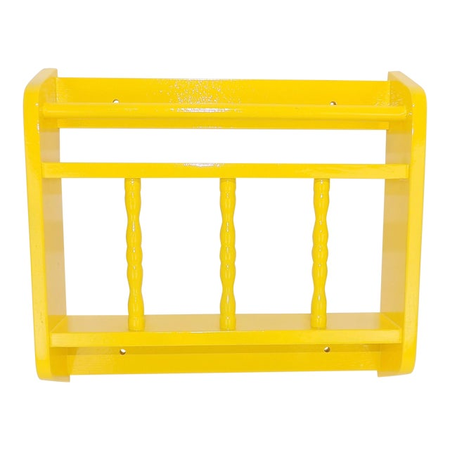 Electric Yellow Magazine Rack For Sale