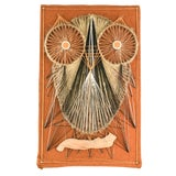 Image of Vintage Mid-Century String Art of Owl For Sale