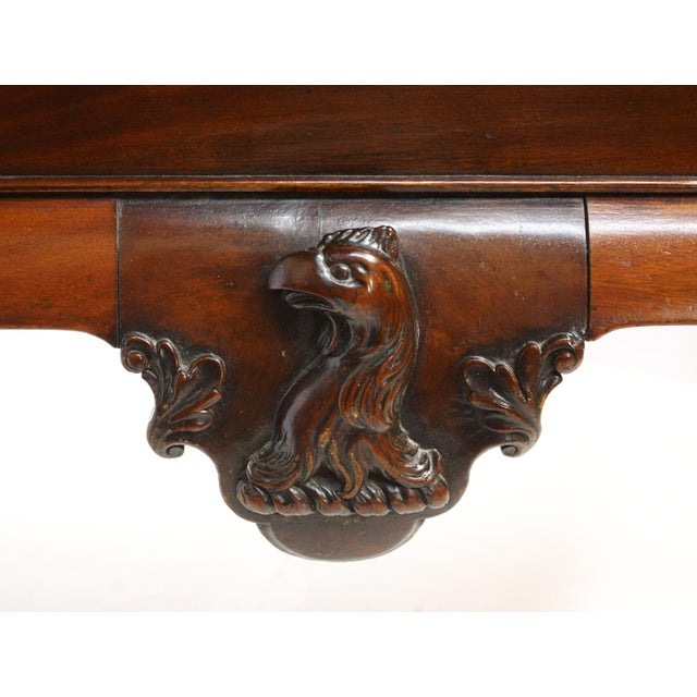 Chippendale George II Irish Serving Table with Crest, a Cock's Head Erased For Sale - Image 3 of 9