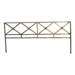 Mid-Century Brass Star King Size Headboard For Sale